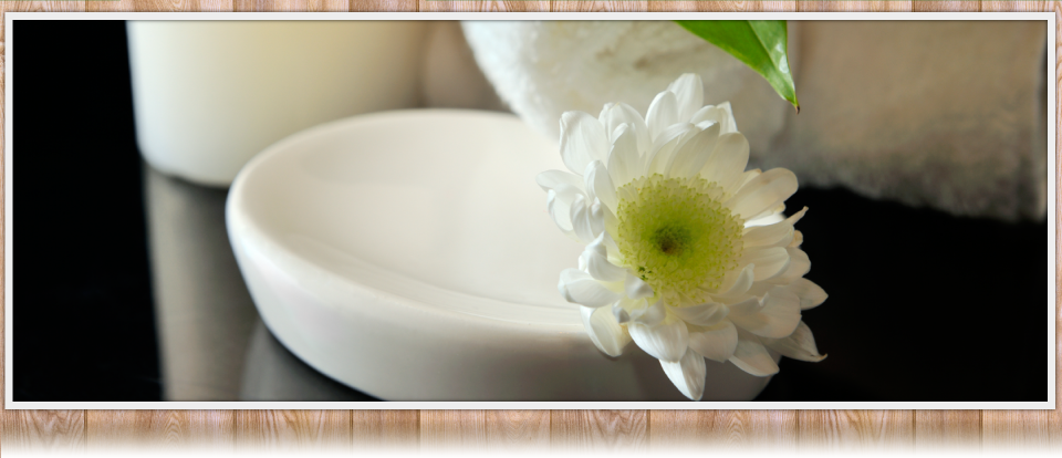 White Flower and Dish